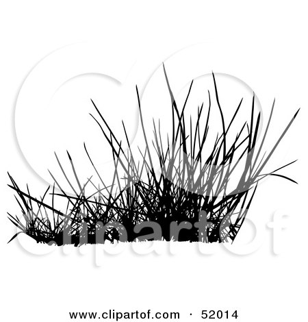 Royalty-Free (RF) Clipart Illustration of a Digital Collage of A Black Grass Silhouette - Version 3 by dero