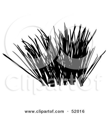 Royalty-Free (RF) Clipart Illustration of a Digital Collage of A Black Grass Silhouette - Version 1 by dero