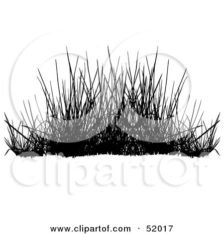 Royalty-Free (RF) Clipart Illustration of a Digital Collage of A Black Grass Silhouette - Version 4 by dero