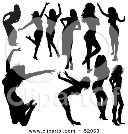 silhouettes of people dancing. people dancing silhouette.