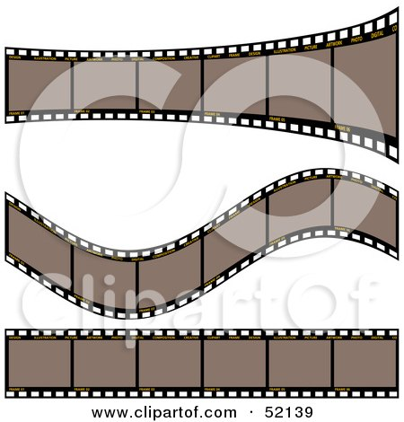 Royalty-Free (RF) Clipart Illustration of a Digital Collage of Brown Film Strips - Version 1 by dero