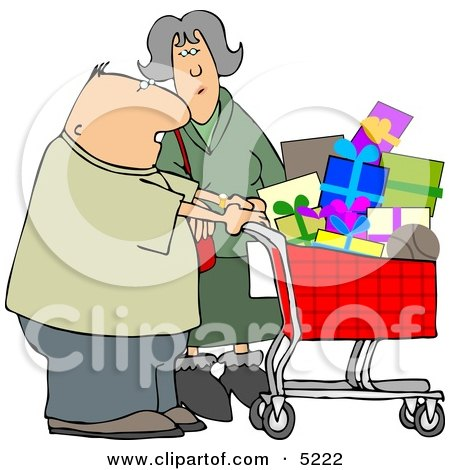 Husband and Wife Shopping Together for Christmas Presents at a Toy Store Posters, Art Prints