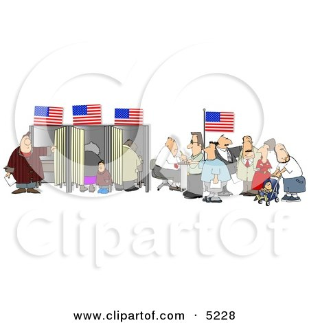 American People Voting for the Next President of the United States Clipart by djart