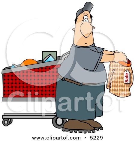 Man Shopping for Underwears Clipart by djart