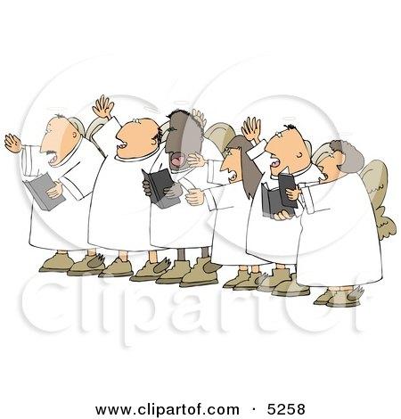 Chorus Angels Singing Together Clipart Illustration by djart