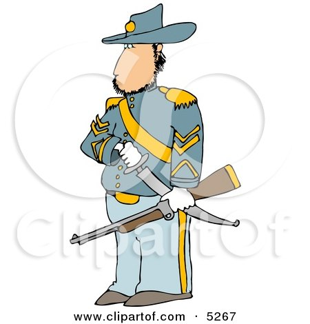 Union Soldier Clipart Illustration by djart