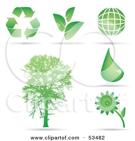 Royalty Free Rf Clipart Illustration Of A Green Ecology