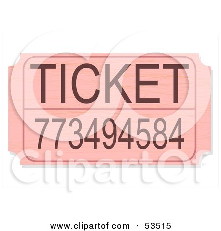 Pink Raffle Ticket With A Number Posters, Art Prints