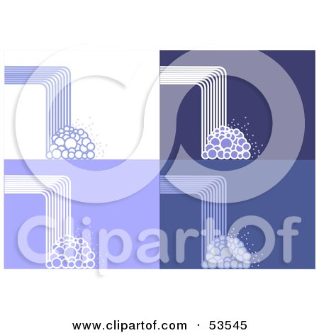 Royalty-Free (RF) Clipart Illustration of a Digital Collage Of Abstract Waterfall And Bubble Backgrounds by David Barnard