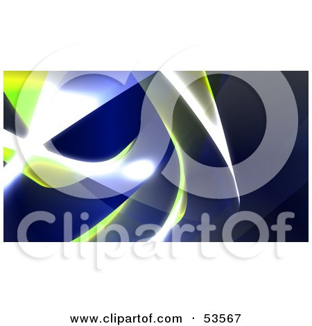 Royalty-Free (RF) Clipart Illustration of a Background Of Blue And Yellow Swooshes And Bright Lights - Version 4 by Julos