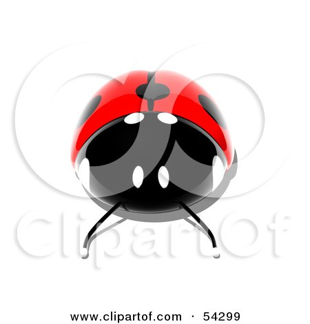 Royalty-Free (RF) Clipart Illustration of a 3d Shiny Ladybird - Pose 2 by Julos