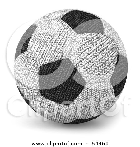 Royalty-Free (RF) Clipart Illustration of a 3d Fabric Soccer Ball by Julos