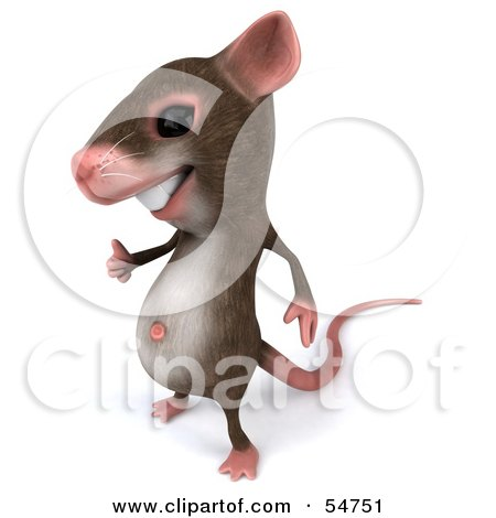 Royalty-Free (RF) Clipart Illustration of a 3d Mouse Character Giving The Thumbs Up - Pose 1 by Julos