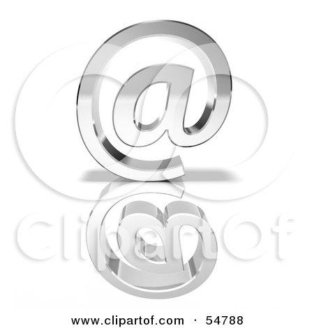 3d Chrome Arobase Symbol - Version 3 Posters, Art Prints
