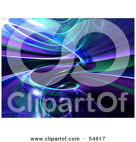 Royalty-Free (RF) Clipart Illustration of a Reflective Blue Spiral Background - Version 1 by Julos