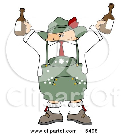 People Celebrating Oktoberfest with Live Music and Beer Clipart by ...
