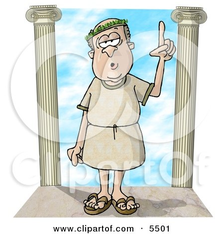 Roman era Philosopher Clipart Illustration by djart