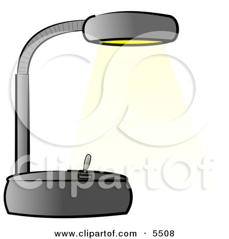 Black Office Desk Lamp Clipart Illustration by djart