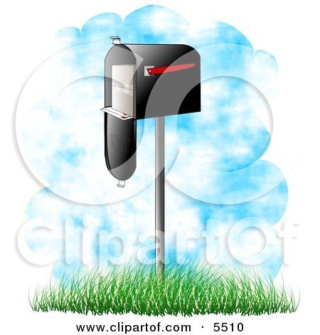 Delivered Mail in a Mailbox Clipart Illustration by djart