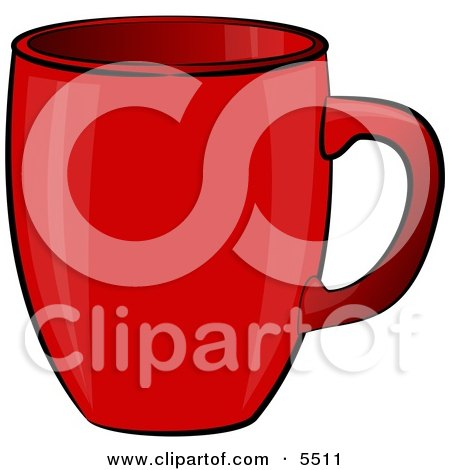 Empty Red Coffee Cup Clipart Illustration by djart