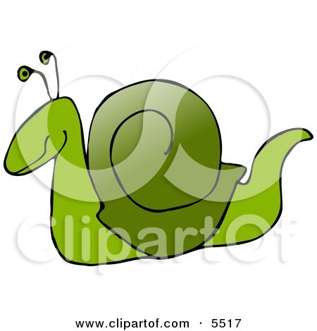 Green Snail Clipart Illustration by djart