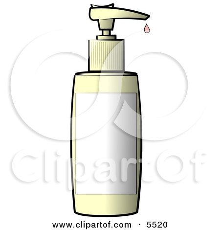 Blank Labeled Plastic Bottle of Lotion Clipart Illustration by djart