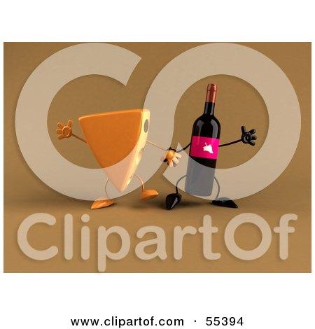 Wedge of Orange Swiss Cheese Mascot Cartoon Character With Welcoming Open