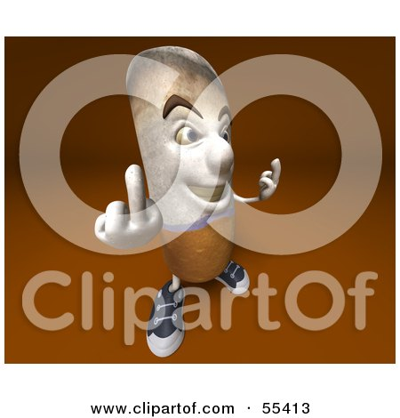 3d Cigarette Character Holding Up His Middle Finger - Version 4 Posters, Art Prints