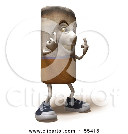 3d Cigarette Character Holding Up His Middle Finger - Version 6 Posters, Art Prints