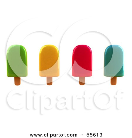 3d Group Of Ice Lollies - Version 4 Posters, Art Prints