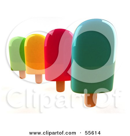 3d Group Of Ice Lollies - Version 3 Posters, Art Prints