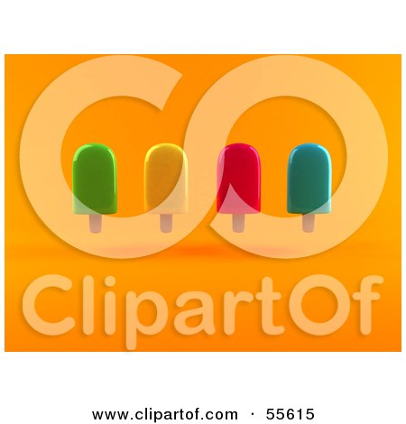 3d Group Of Ice Lollies - Version 1 Posters, Art Prints