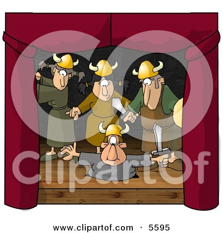 Actors & Actresses Reinacting the Viking Age Clipart Illustration by djart