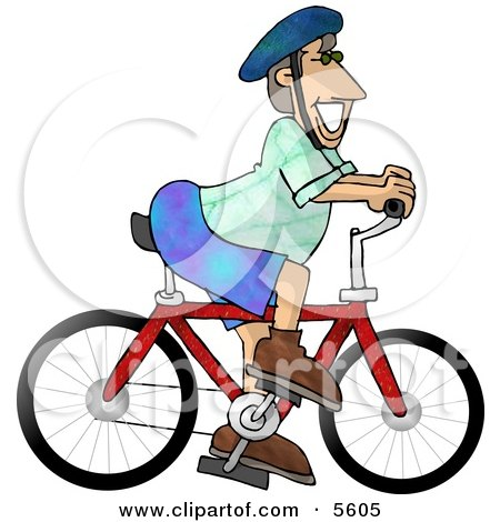 Happy Man Wearing a Safety Helmet While Riding a Bicycle On a Summertime Day Posters, Art Prints