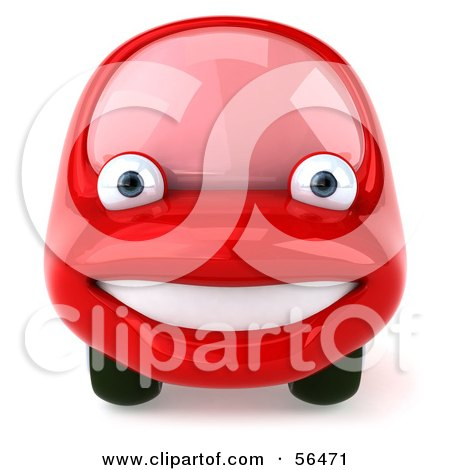 Clipart Of A 3d Happy Red Porsche Car Holding A Thumb Up And Dollar