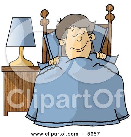 Happy Boy Sleeping In His Bedroom Posters, Art Prints