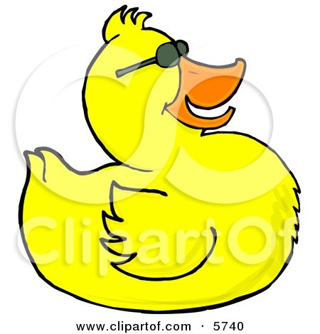 Happy Yellow Duck Wearing Sunglasses Clipart Illustration by djart