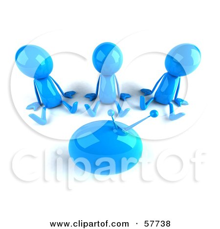 3d Blue Bob Characters Watching Television - Version 3 Posters, Art Prints
