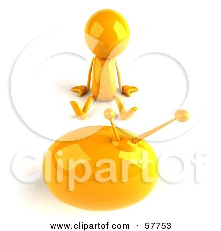 3d Yellow Bob Character Watching Television - Version 3 Posters, Art Prints