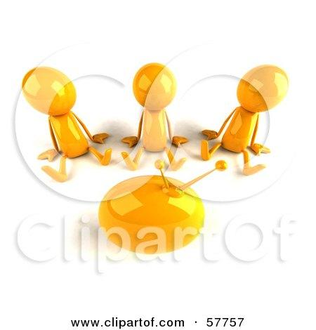 3d Yellow Bob Characters Watching Tv - Version 3 Posters, Art Prints