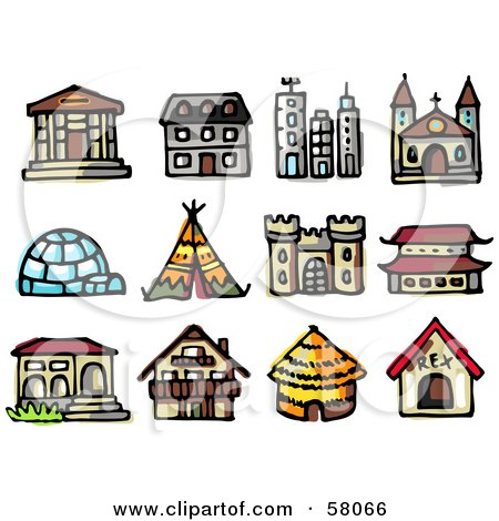Royalty Free Rf Clipart Illustration Of An Igloo With