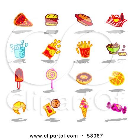 Digital Collage Of Bad Foods Posters, Art Prints