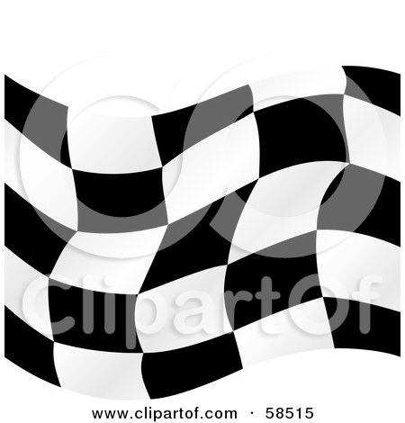 Royalty-Free (RF) Clipart Illustration of a Waving Race Flag Background On White - Version 4 by MilsiArt