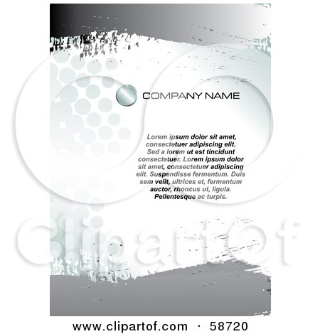 Royalty-Free (RF) Clipart Illustration of a Grungy Industrial Chrome And Halftone Background With Sample Text by MilsiArt