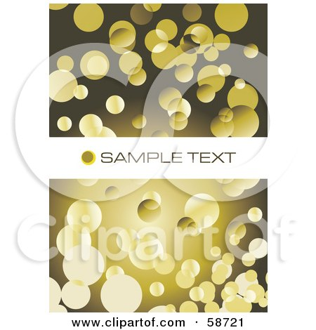 Royalty-Free (RF) Clipart Illustration of a Background Of Yellow Bubbles On Brown With A Text Bar by MilsiArt
