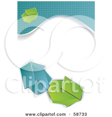 Royalty-Free (RF) Clipart Illustration of a Design Template With Blue Borders And Arrows by MilsiArt