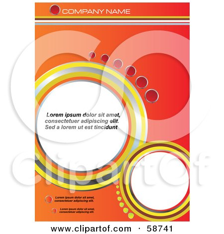 Royalty-Free (RF) Clipart Illustration of an Orange Circle Background With Sample Text by MilsiArt