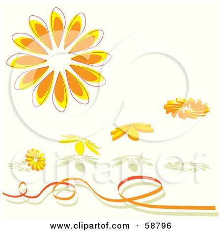 pics of daisy tattoos black and white flower tattoos. Royalty-free clipart picture of orange daisy flower objects with shadows and