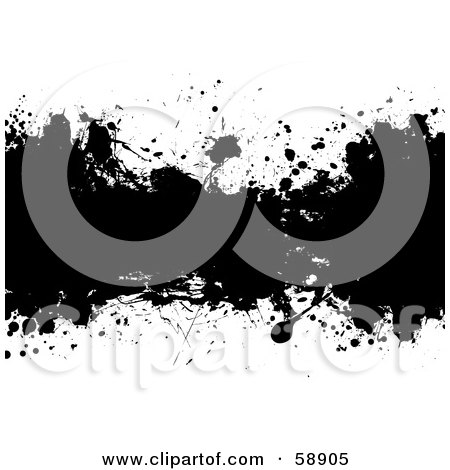 Royalty-Free (RF) Clipart Illustration of a Black And White Ink Splatter Background, Version 3 by michaeltravers