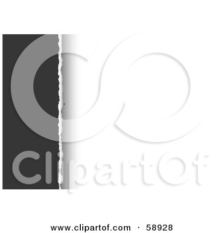 Royalty-Free (RF) Clipart Illustration of a Gray Edge Divided By White Torn Paper by michaeltravers